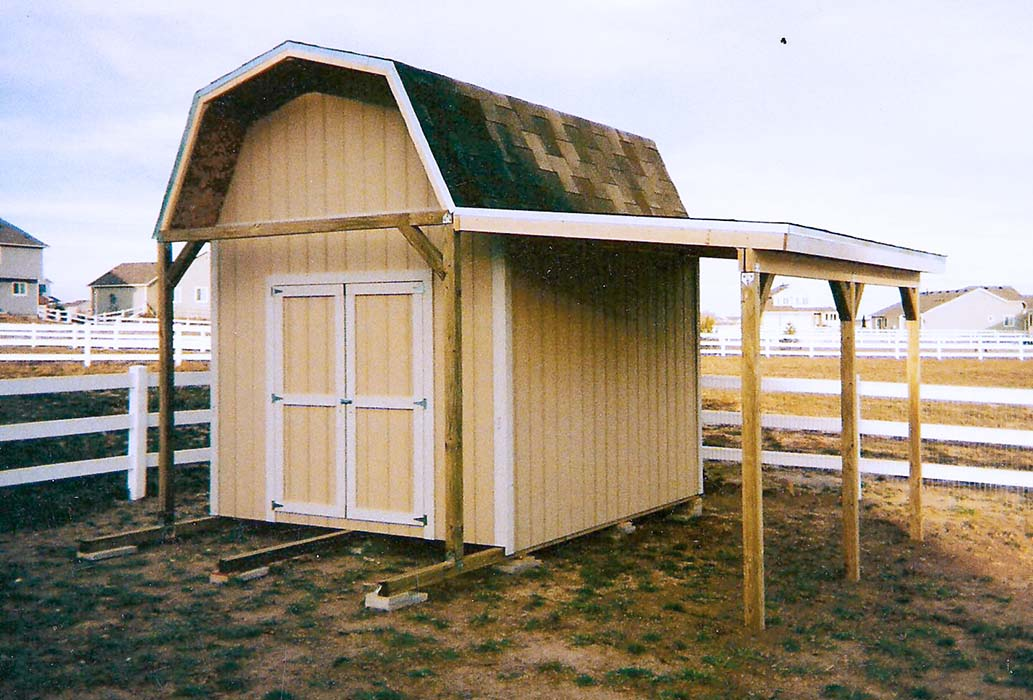 All con lean to shed roof pitch for Lean to barn